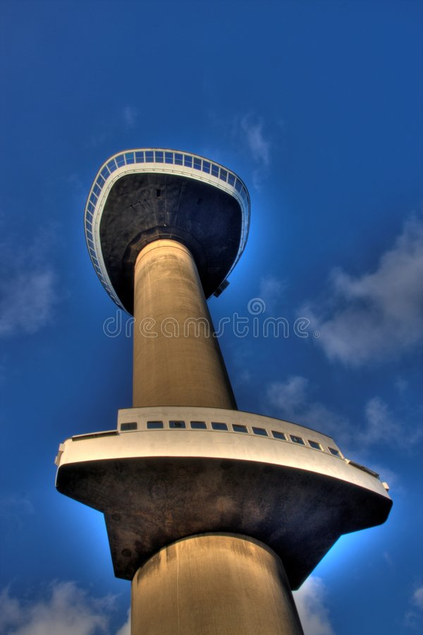 Euromast in HDR. A photo of the Euromast in HDR royalty free stock images
