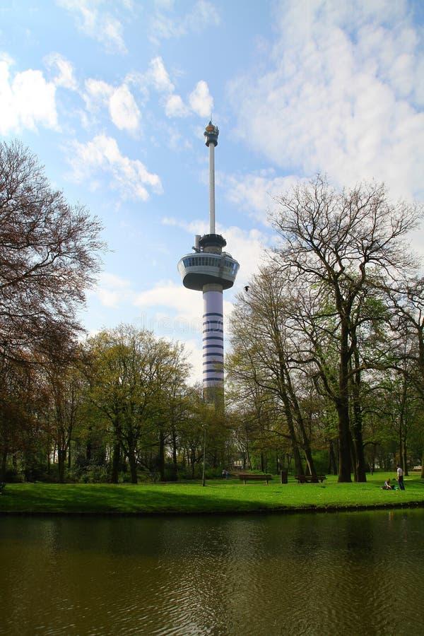 Euromast - parc de Het - Rotterdam - les Pays-Bas photographie stock libre de droits