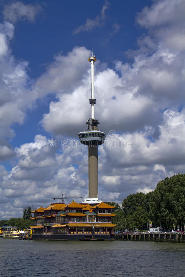 Euromast, Rotterdam, die Niederlande stockbild