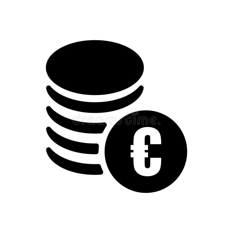Euromynt staplar symbolsvektortecknet, och symbolet som isoleras på vit bakgrund, euromynt, staplar logobegrepp royaltyfri illustrationer