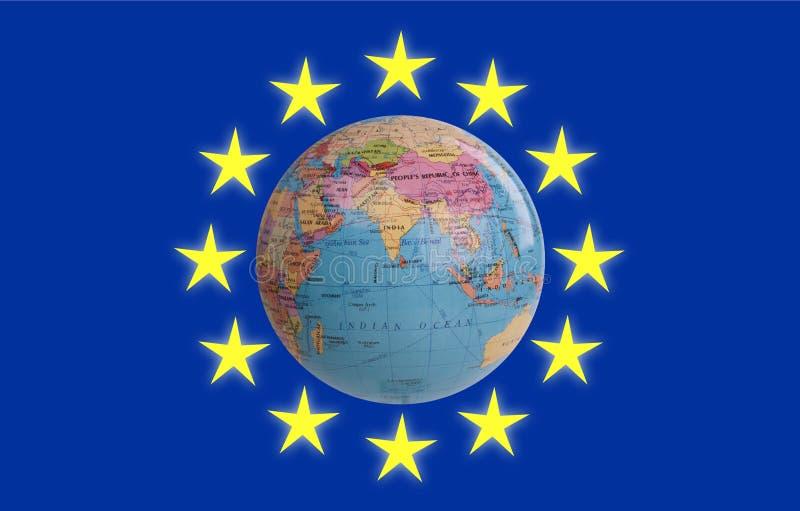 Euroområdet i världen royaltyfri foto
