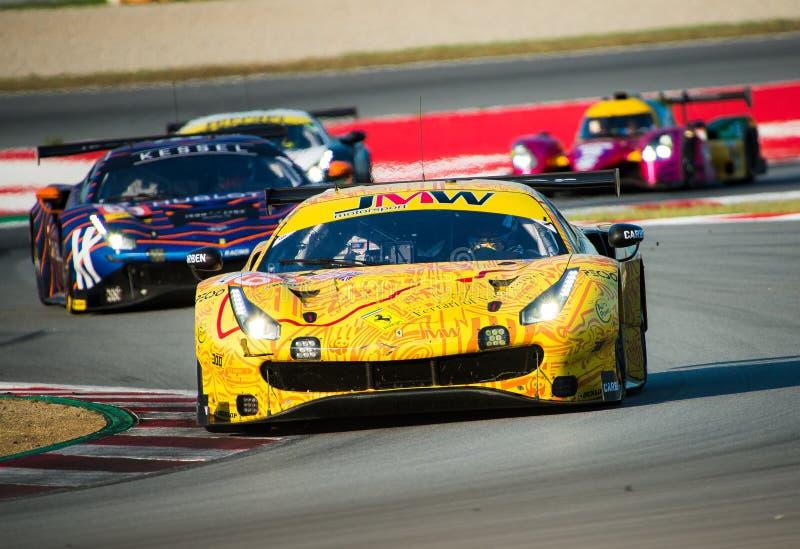 Europäer-Le Mans Reihe - 4Hours von Barcelona stockbild
