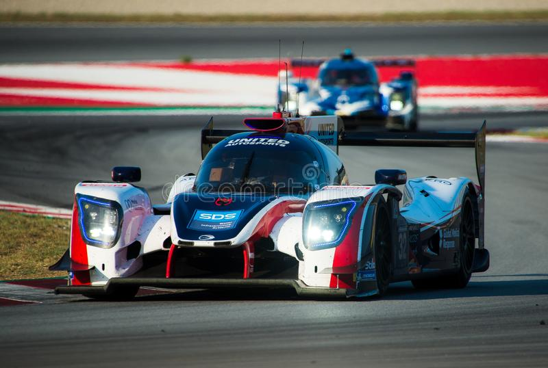 Europäer-Le Mans Reihe - 4Hours von Barcelona lizenzfreie stockbilder