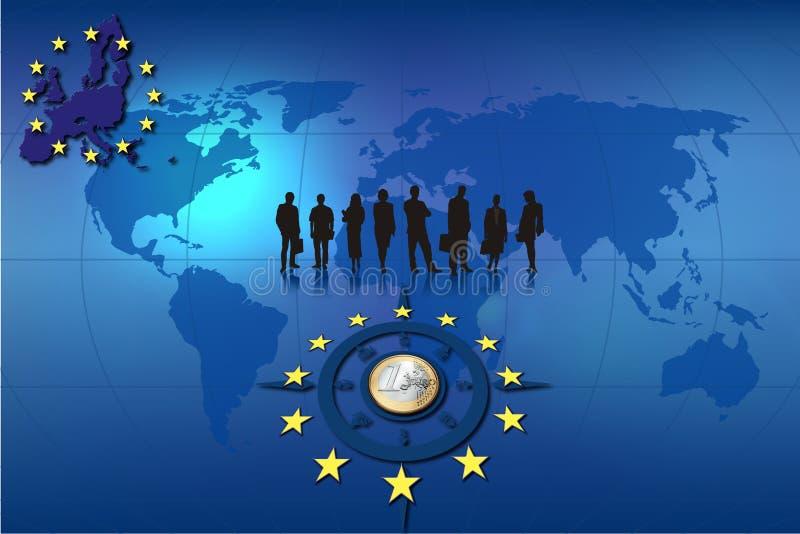 Europäergeschäftshintergrund stock abbildung