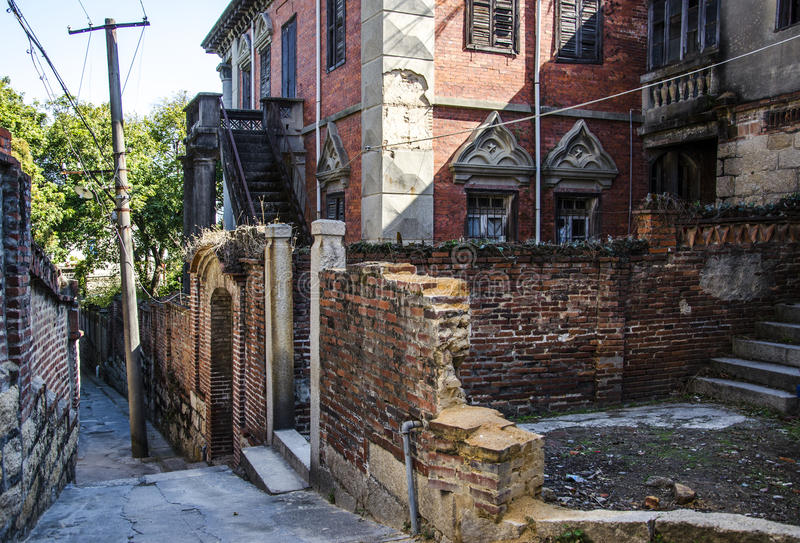 Europäische Architektur von Gulangyu-kleiner Insel in Xiamen stockfoto