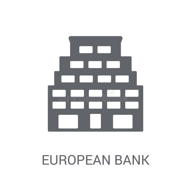 Europäische Bank für Wiederaufbau und Entwicklung Ikone  lizenzfreie abbildung