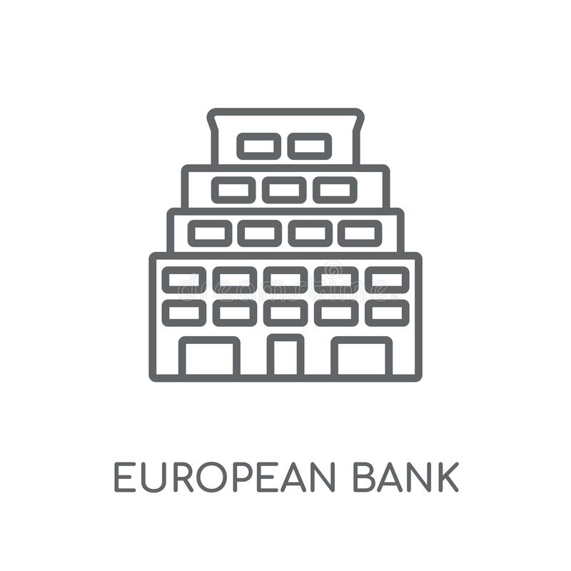 Europäische Bank für Wiederaufbau und Entwicklung lineare Ikone MO vektor abbildung