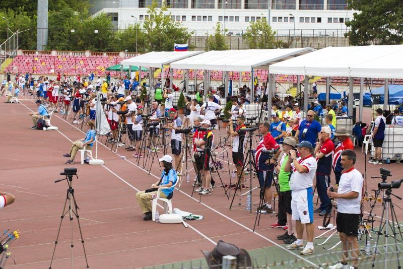 Europäische Jugend-Bogenschießen-Meisterschaften in Bukarest lizenzfreie stockfotografie