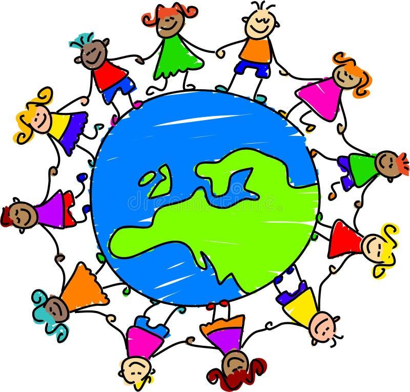 Europäische Kinder stock abbildung