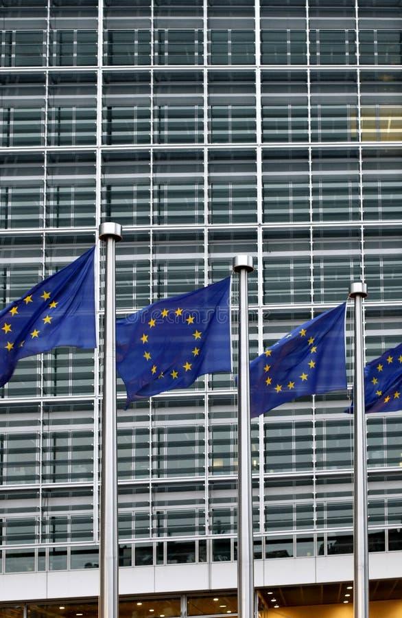 Europäische Kommission in Brüssel lizenzfreie stockfotografie