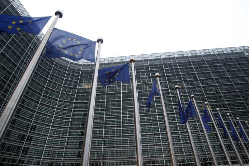Europäische Kommission in Brüssel lizenzfreies stockfoto