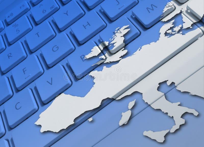 Europäische Kommunikationen lizenzfreie abbildung