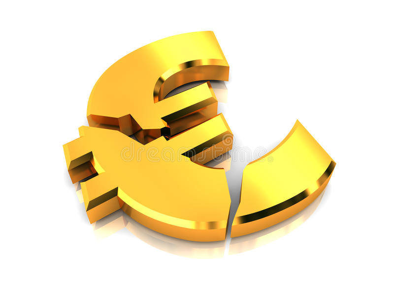 Europäische Krise lizenzfreie abbildung