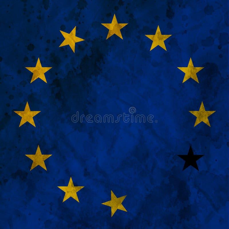 Europäische Krise stock abbildung