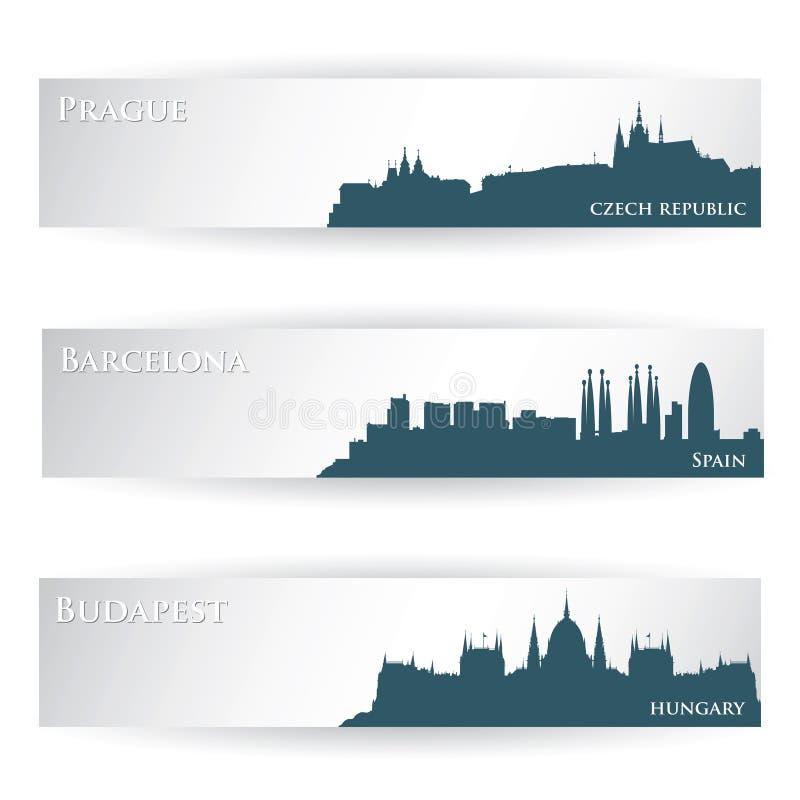 Europäische Stadtvorsätze lizenzfreie abbildung
