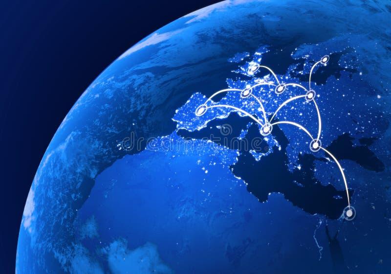 Europäische Telekommunikation stock abbildung