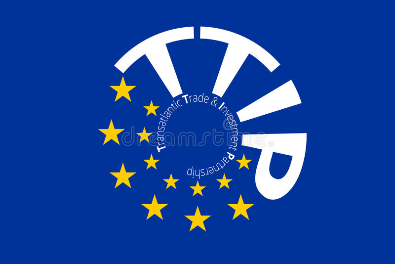Europäische ursprüngliche Flagge färbt Designe stock abbildung