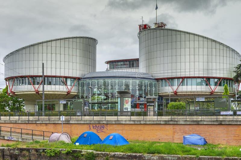 Europäischer Gerichtshof für Menschenrechte stockbilder