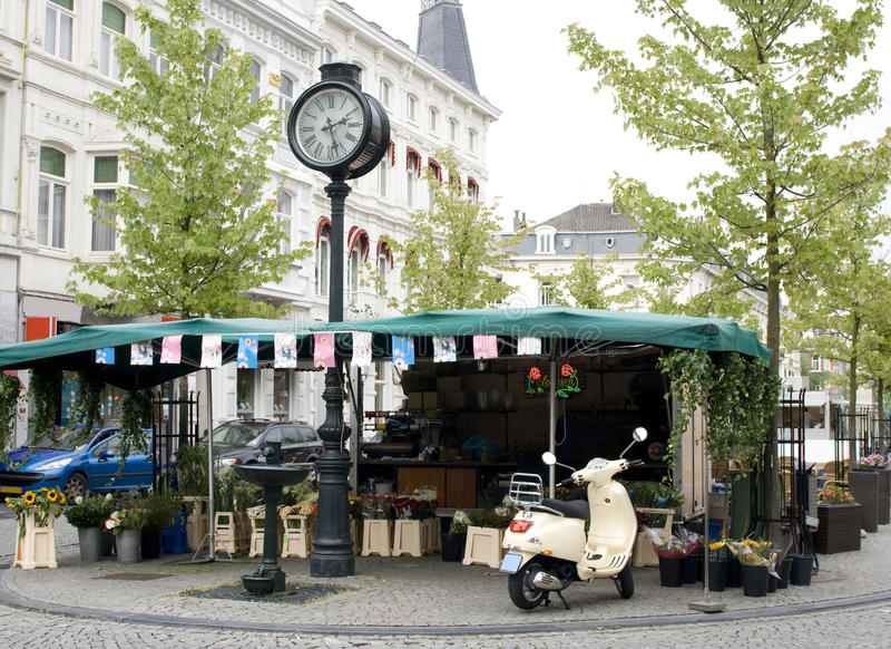 Europäisches flowershop lizenzfreies stockfoto