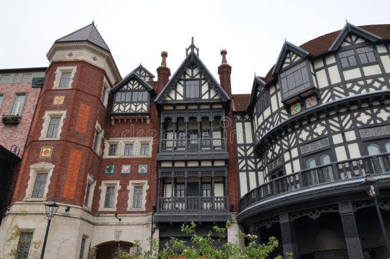 Europé-stil Tudor byggnad Chokladfabriken, Shiroi Koibito parkerar royaltyfri bild