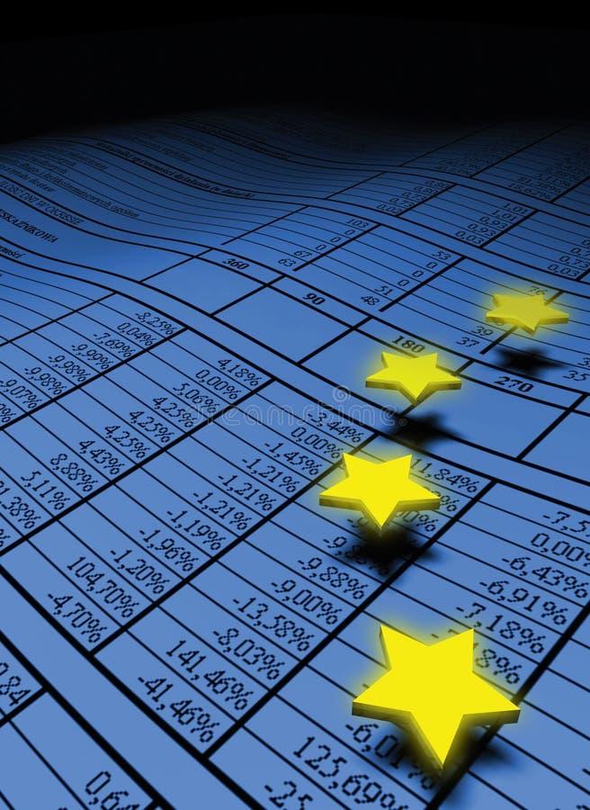 Européen au-dessus des étoiles de tableur illustration de vecteur