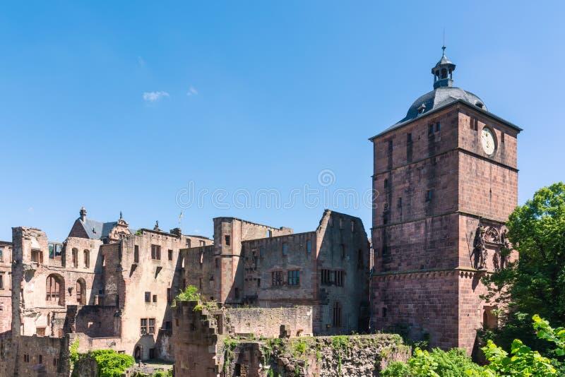 Européen intérieur de l'Allemagne d'architecture de château d'Heidelberg Schloss images libres de droits