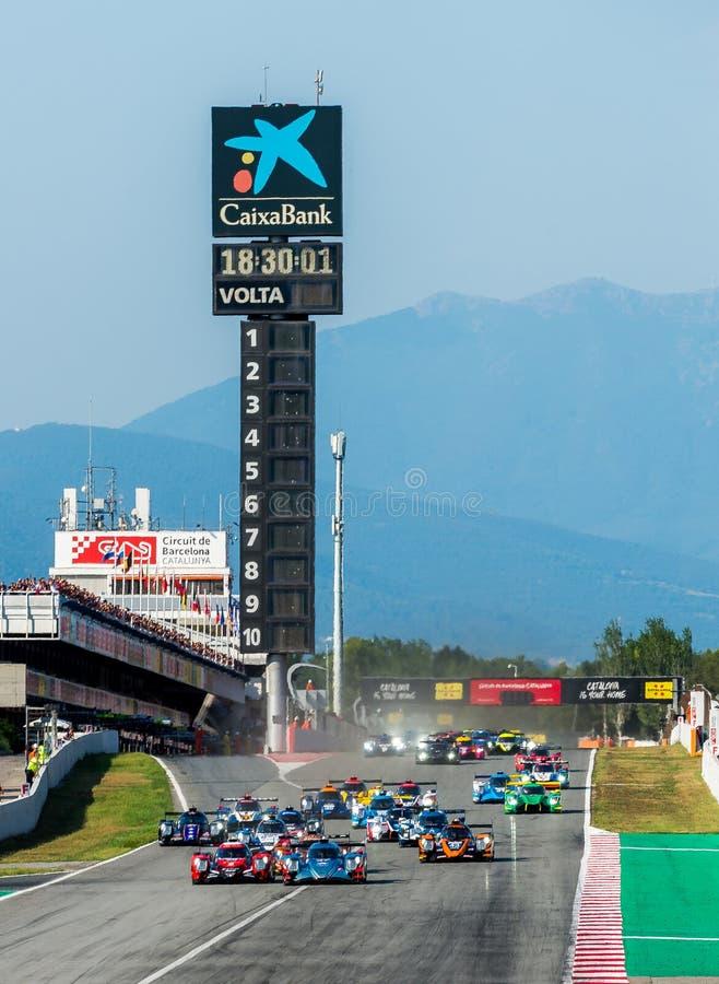 EuropéLe Mans serie - 4Hours av Barcelona royaltyfria foton