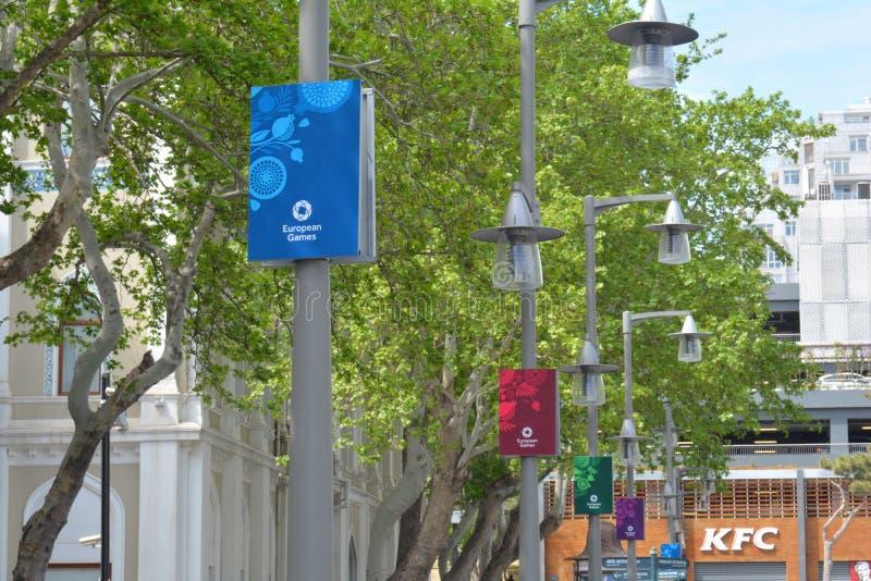 Europén spelar affischen 2015 i Baku arkivfoto