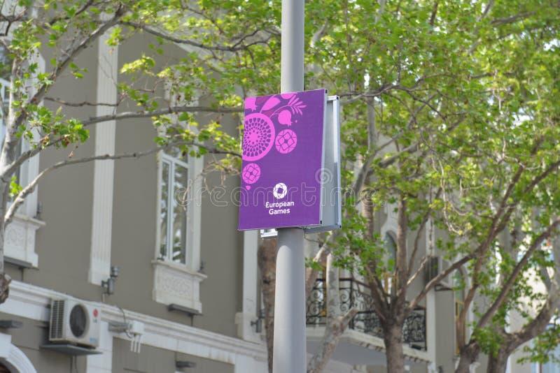 Europén spelar affischen 2015 i Baku arkivfoton