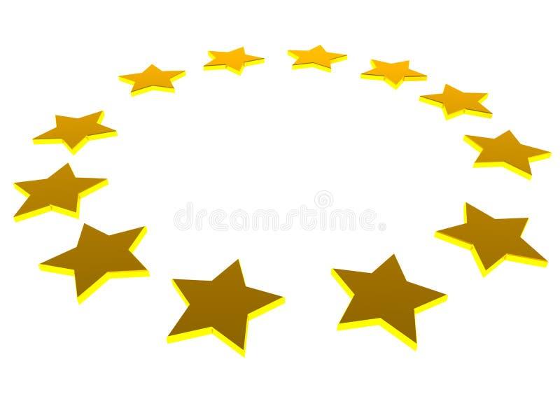 Européstjärnor stock illustrationer