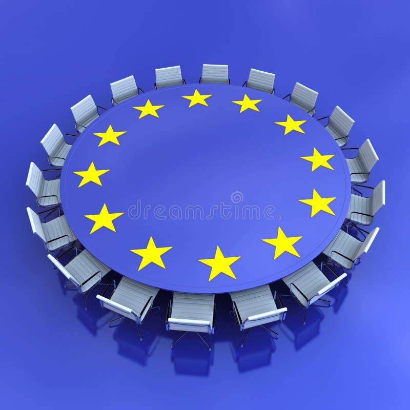 Europ?ische Sitzung stock abbildung