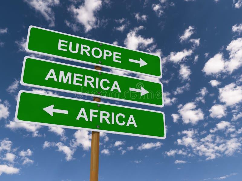 Europa, América, África fotografía de archivo