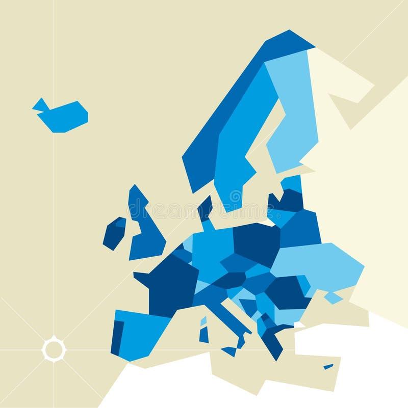 Europa beperkte kaart stock illustratie