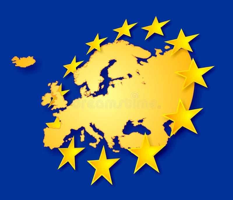 Europa com estrelas ilustração do vetor