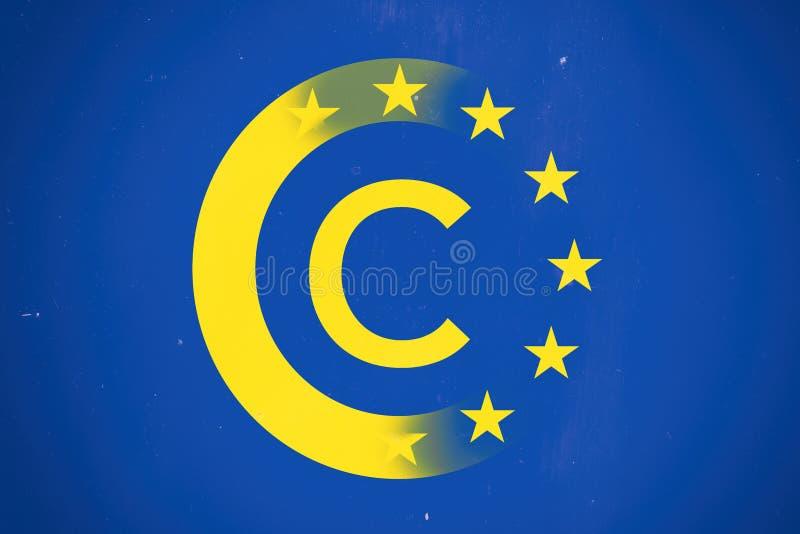 Europa copyright-regler arkivbild