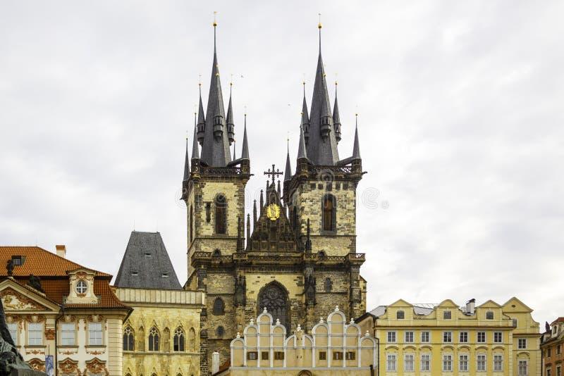 Europa; Czech; kościół; republika; budować; architektura; religio obraz royalty free