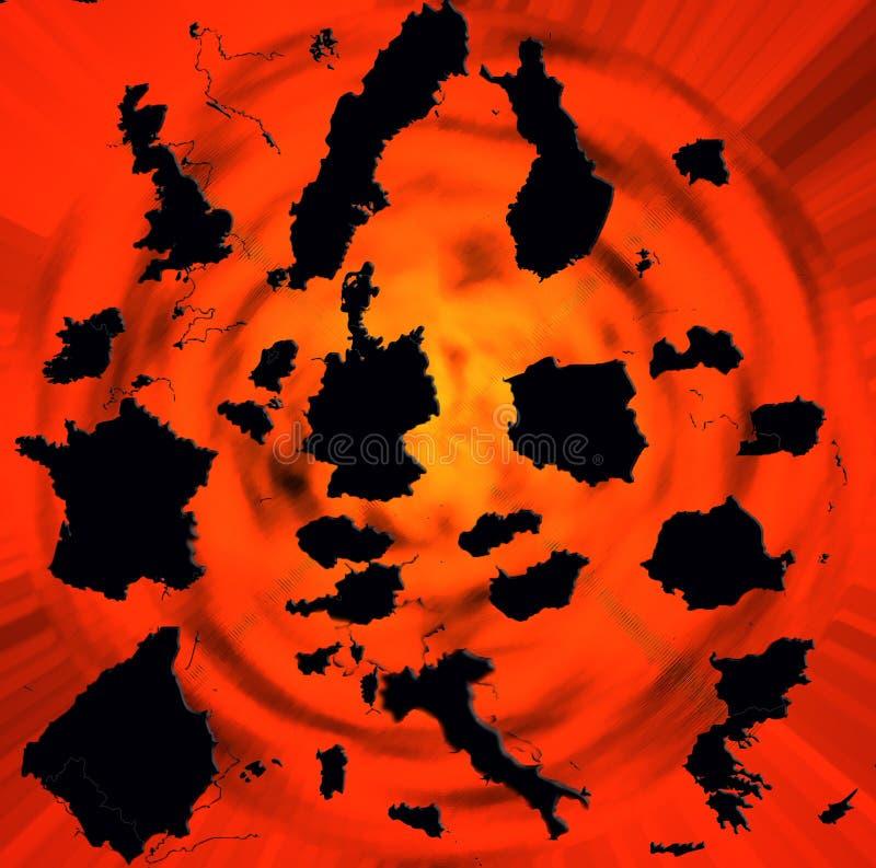 Europa de explosão fotografia de stock royalty free
