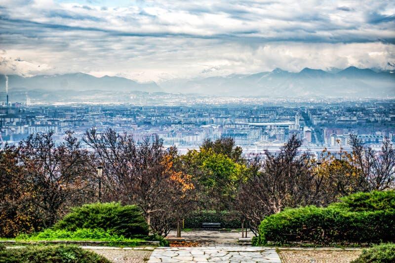 Europa de Parco, parque de Europa, Turín Italia fotos de archivo