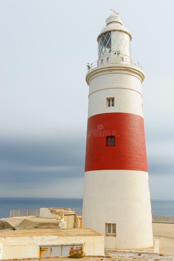 Europa de Vuurtoren van het Punt, Gibraltar royalty-vrije stock foto