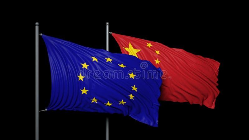 Europa e China ilustração do vetor