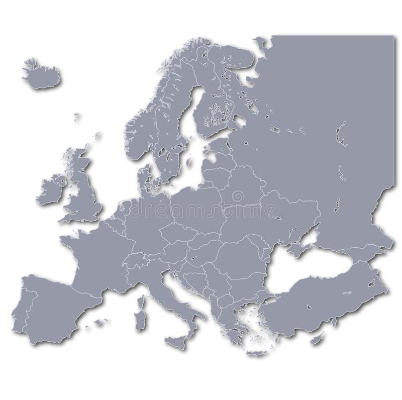 Europa ed i suoi membri illustrazione di stock