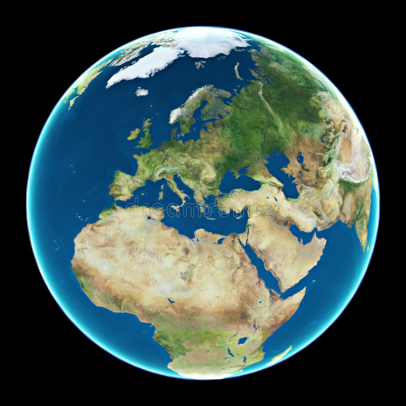 Europa en la tierra del planeta ilustración del vector