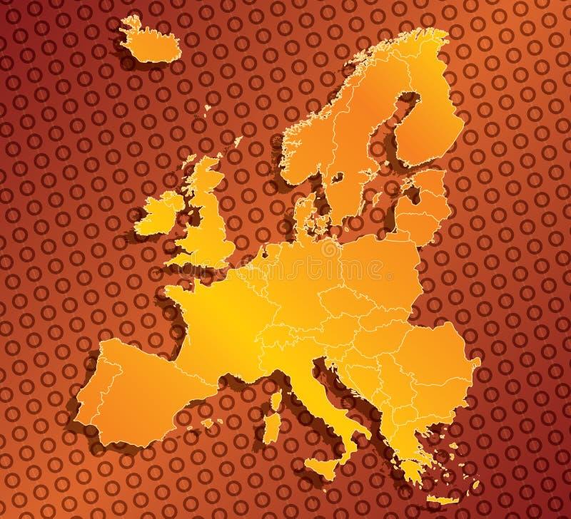 Europa EU kartlägger med landsgränser royaltyfri illustrationer