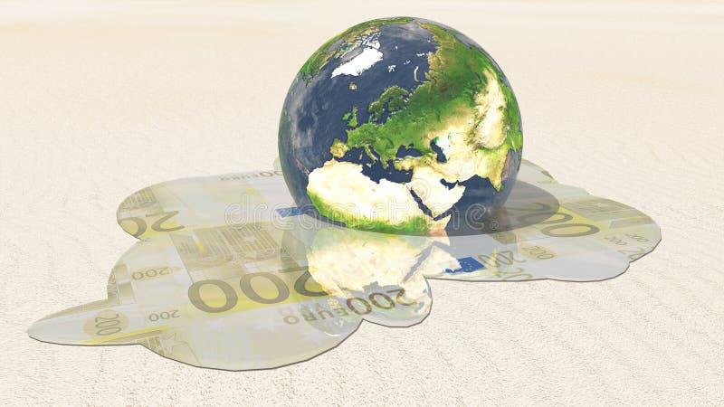 Europa-Euroschmelze lizenzfreie abbildung