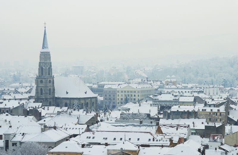 Europa extrem vinter arkivfoto