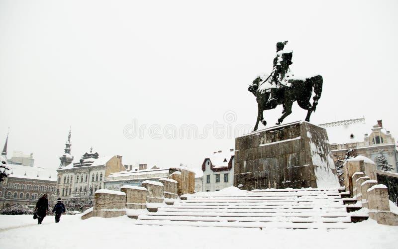 Europa extrem vinter arkivfoton