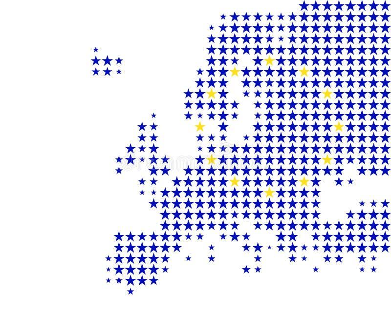 Europa flaggaöversikt stock illustrationer