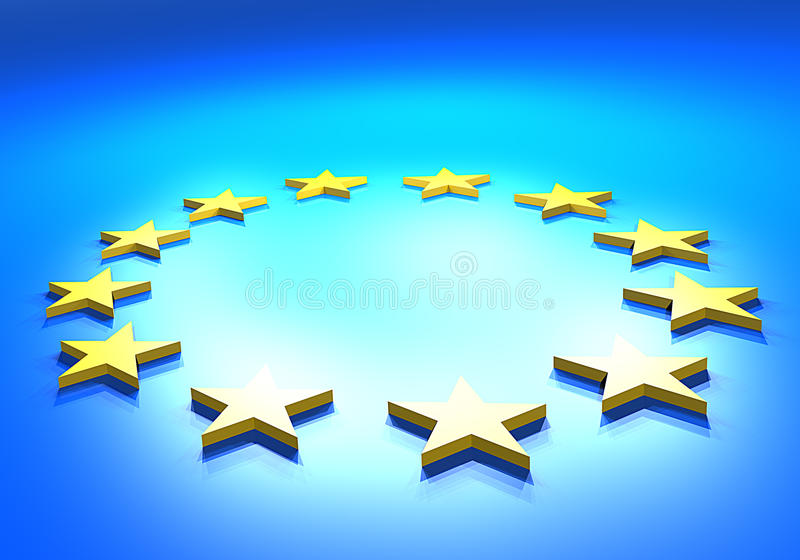 Europa flagga stock illustrationer