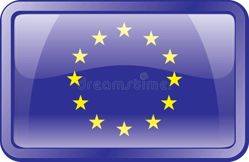 Europa flaggasymbol royaltyfri illustrationer