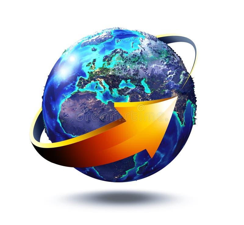 Europa hållbar utveckling - beståndsdelar av denna avbildar vid NASA stock illustrationer